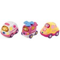 Toet toet auto 3 roze autootjes Vtech 12+ mnd