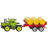 Mercedes tractor met aanhanger voor balen Siku