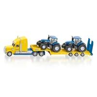 Vrachtwagen met 2 New Holland Tractoren SIKU