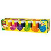 Plakkaatverf in trendy kleuren SES 6x50 ml