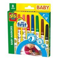 Baby markers SES 8 stuks kleur
