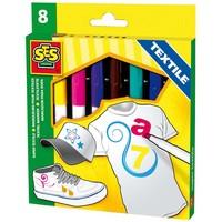 Textielstiften maxi SES 8 stuks kleur