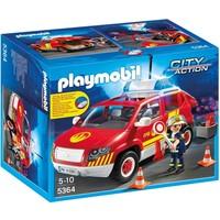 Playmobil 5364 Brandweercommandant met dienstwagen met licht en sirene