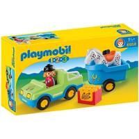 1.2.3 Wagen met paardentrailer Playmobil