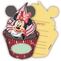 Uitnodigingen Minnie Mouse: 6 stuks
