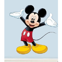 Muursticker Mickey Mouse Roommates: 18.3x5,3 cm
