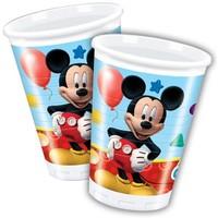 Bekertjes Mickey Mouse 200 ml: 8 stuks
