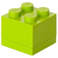 Opbergbox LEGO MINI brick 4 lime groen