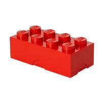 Lunchbox LEGO brick 8 rood