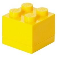 Opbergbox LEGO MINI brick 4 geel