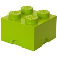 Opbergbox LEGO brick 4 lime groen