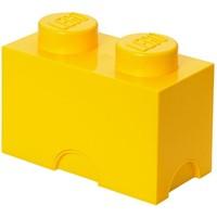 Opbergbox LEGO brick 2 geel