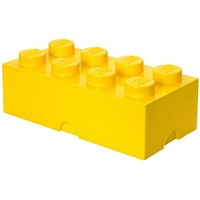 Opbergbox LEGO brick 8 geel