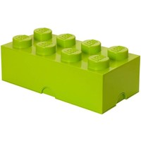 Opbergbox LEGO brick 8 lime groen