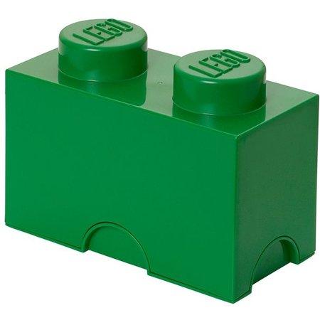 LEGO License LEGO Opbergbox: Brick 2 (2.7 ltr) - groen