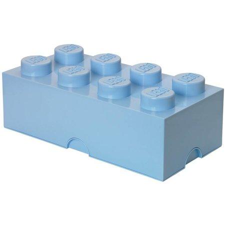 LEGO License LEGO Opbergbox: brick 8 (12 ltr) licht blauw