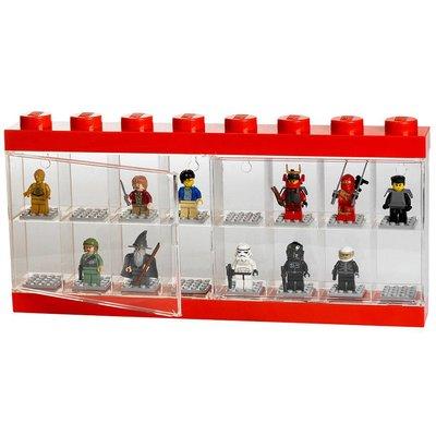 LEGO License Opbergbox Lego: minifigs rood 16-delig
