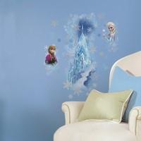 Stickervel Frozen muur Sisters 2 vel 46x101 cm