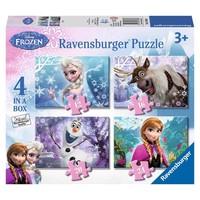 Puzzel Frozen 4 in 1: 12/16/20/24 stukjes