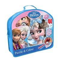 Puzzel en kleur Frozen: 24 stukjes