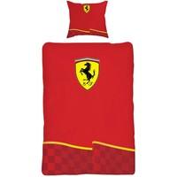 Dekbed Ferrari rood vlag 140x200/60x70 cm