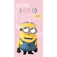 Badlaken Minions phone: 70x140 cm