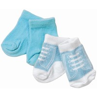 Sokken Baby Born 2-pack licht blauwe veter