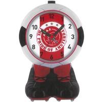 Wekker ajax bal rood/wit pride: 16 cm