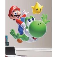 Muursticker Mario Roommates: 45x101 cm