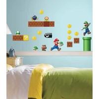 Muursticker Mario Roommates: 25x45 cm
