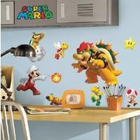 Muursticker Mario Roommates: 8x8 cm