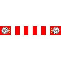 Sjaal ajax rood/wit blokken