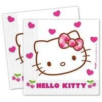 Servetten Hello Kitty 33x33 cm: 20 stuks