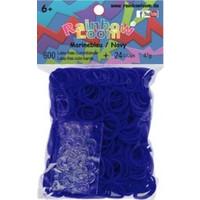 Bandjes Rainbow Loom 600 stuks jelly marineblauw