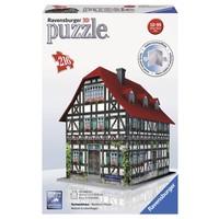 Puzzel middeleeuws huis 3d 216 stukjes