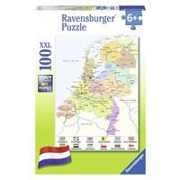 Puzzel Nederland kaart CITO 100 XXL