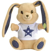 Pluche konijn Pioupiou giftbox blauw sterren 25 cm