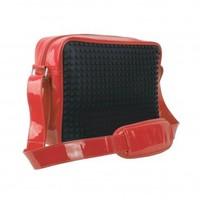 Schoudertas Pixelbags black/red: 160 stuks L
