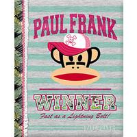 Schrift Paul Frank stripes green A5 gelijnd