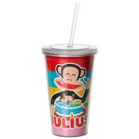 Drinkbeker 500 ml + rietje rood B-DAY Paul Frank
