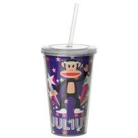 Drinkbeker 500 ml + rietje paars POP Paul Frank