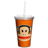 Drinkbeker 500 ml + rietje oranje Paul Frank