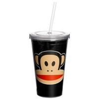 Drinkbeker 500 ml + rietje zwart Paul Frank