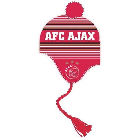 AJAX Amsterdam Ajax Muts Junior rood-wit met flappen
