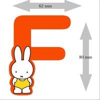 Letter Nijntje 8 cm F