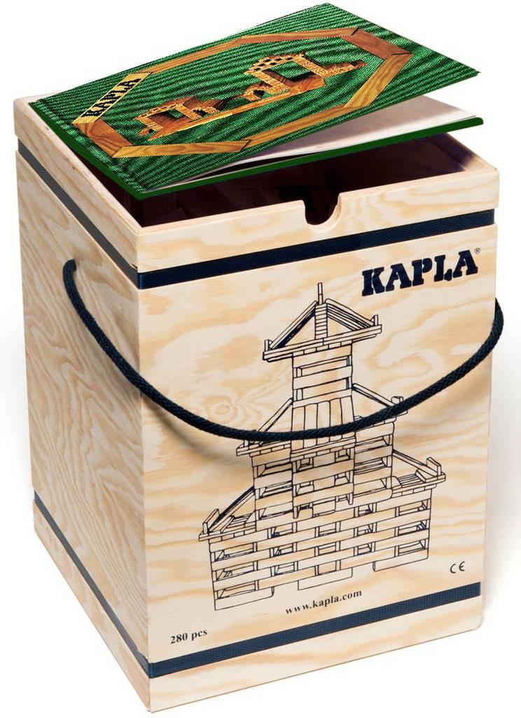 Kapla: 280 stuks in kist met boek: groen