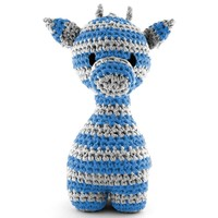 Haakkit RibbonXL Hoooked giraffe Ziggy blauw