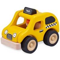 Voertuig Wonderworld Taxi geel 14x14x14 cm