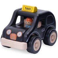 Voertuig Wonderworld Taxi zwart 13x18x13 cm