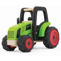 Houten tractor excl. aanhanger Pintoy 18x12x14 cm